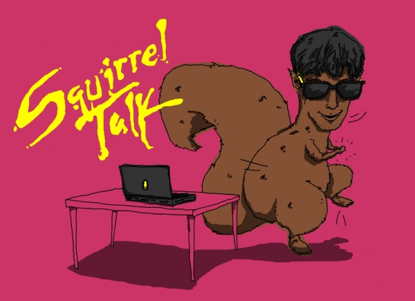 'Squirrel Talk' illustration by Patrick Moberg