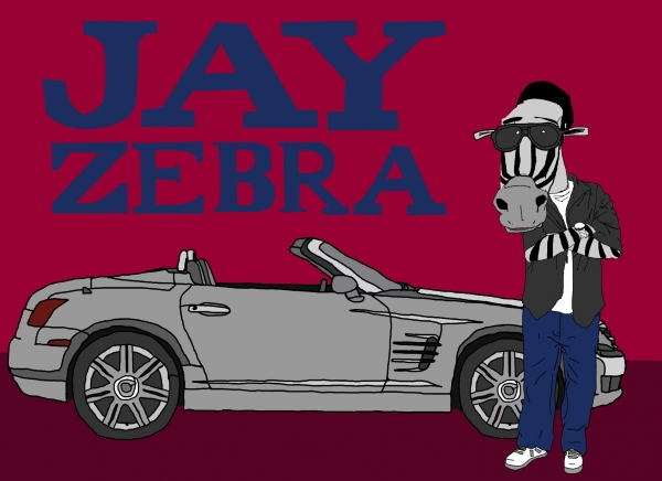 'Jay Zebra' illustration by Patrick Moberg
