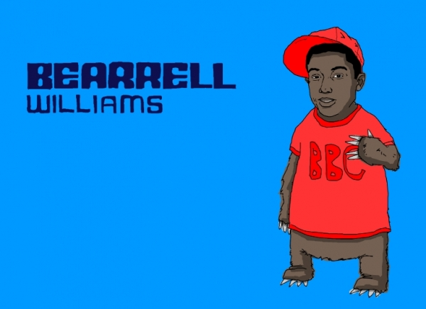 'Bearrell Williams' illustration by Patrick Moberg