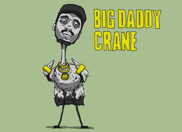 'Big Daddy Crane' illustration by Patrick Moberg